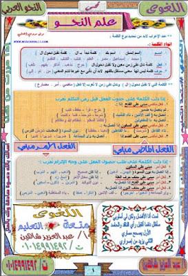 مذكرة اللغوى فى النحو العربى - عبد العزيز شاهين , pdf