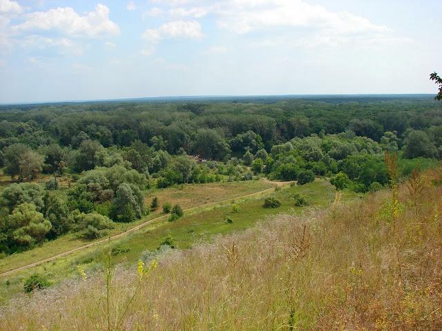 Вид с меловой скалы на долину реки Северский Донец
