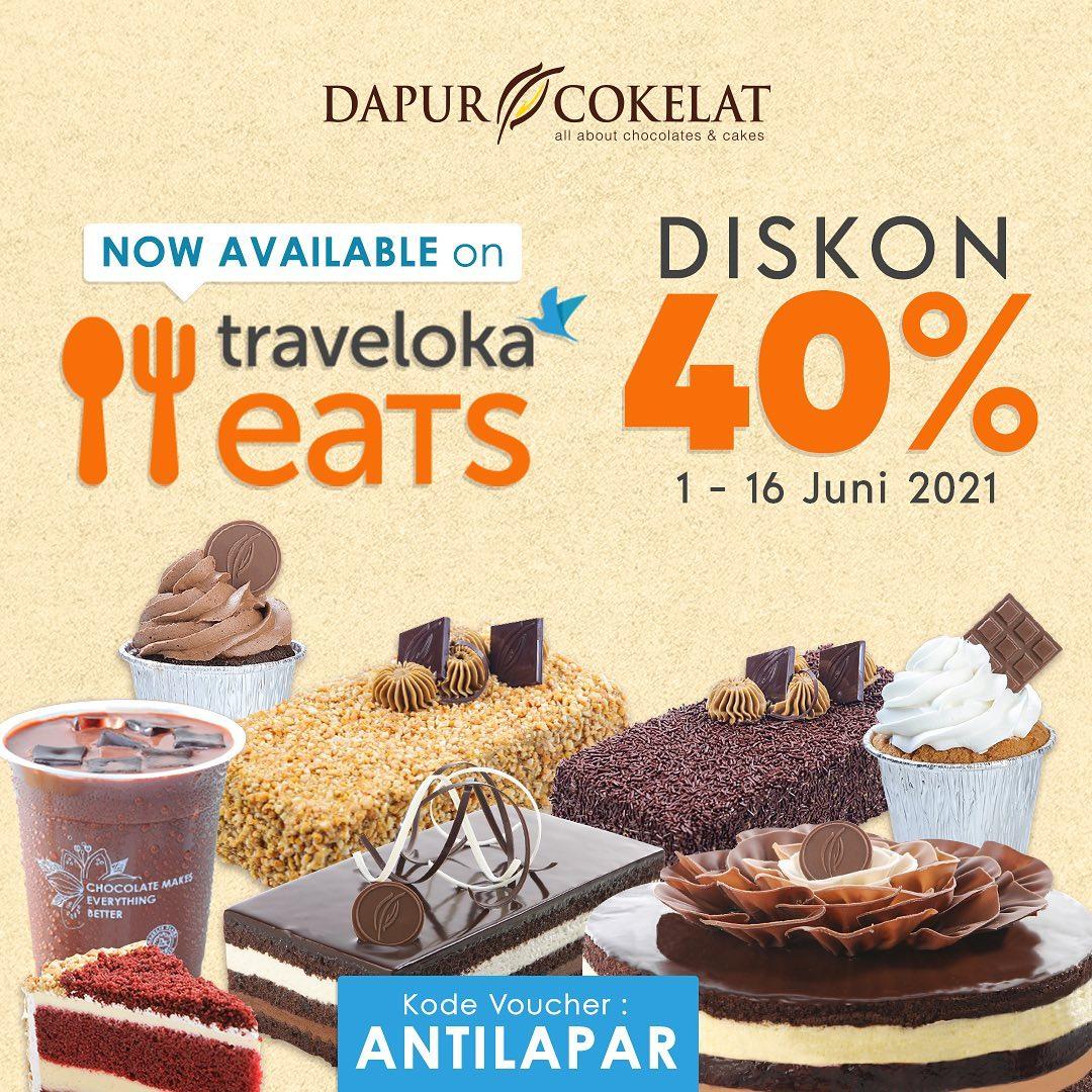 Promo DAPUR COKELAT DISKON 40% melalui Traveloka Eats