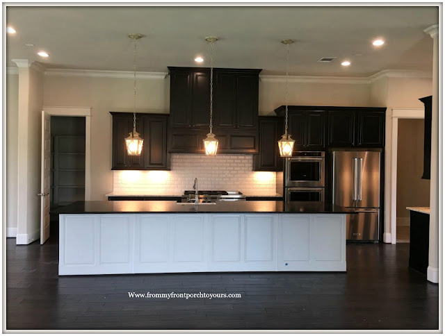 New Construction-Open House-Southern Style-Home-Open-Concept-Dark Kitchen-From My Front Porch To Yours