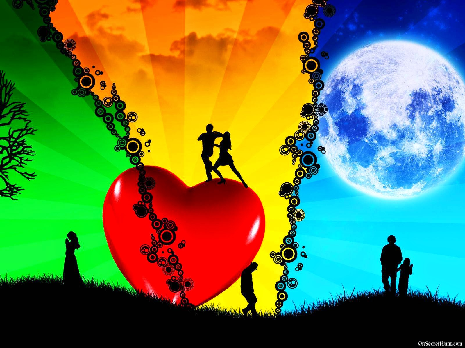 3D Love HD Wallpapers Love Couples Hearts graphy
