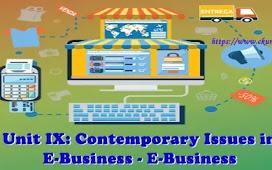 Unit IX: Contemporary Issues in E-Business - E-Business
