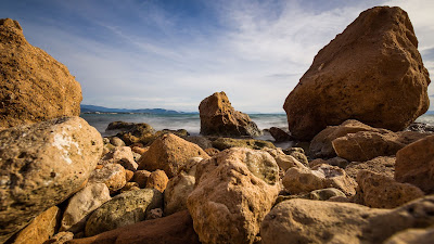 HD wallpapers rocks, stones, shore, sea, nature