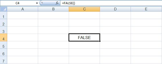 دالة FALSE