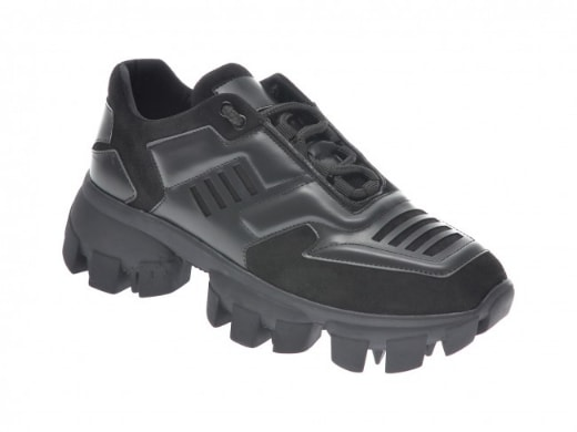 Pantofi casual la moda negri cu talpa masiva