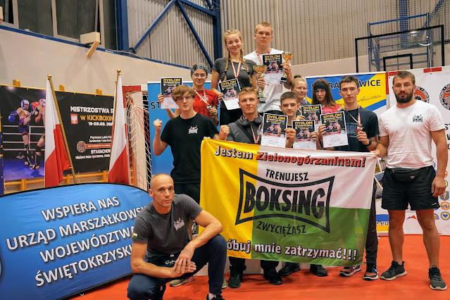 Mistrzostwa Polski, kickboxing, Starachowice, 2020, low kick, ring, sport, Zielona Góra,  SKF Boksing Zielona Góra
