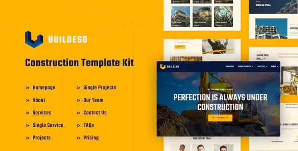 Construction Elementor Template Kit
