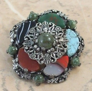 Mock agate brooch by Miracle