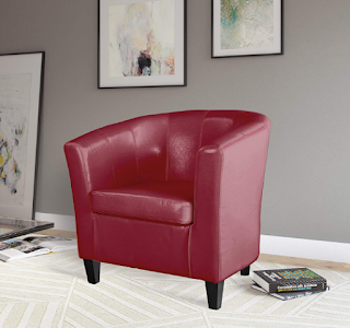 CorLiving LAD-755-C Antonio Tub Chair Red