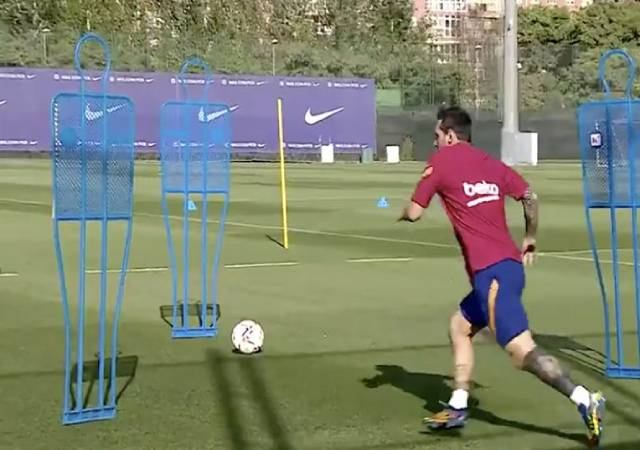 Messi trains alone in Barcelona after the decision to stay with barcelona