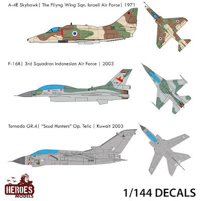 3 New 1/144 One shot Decals Added from Heroes Models