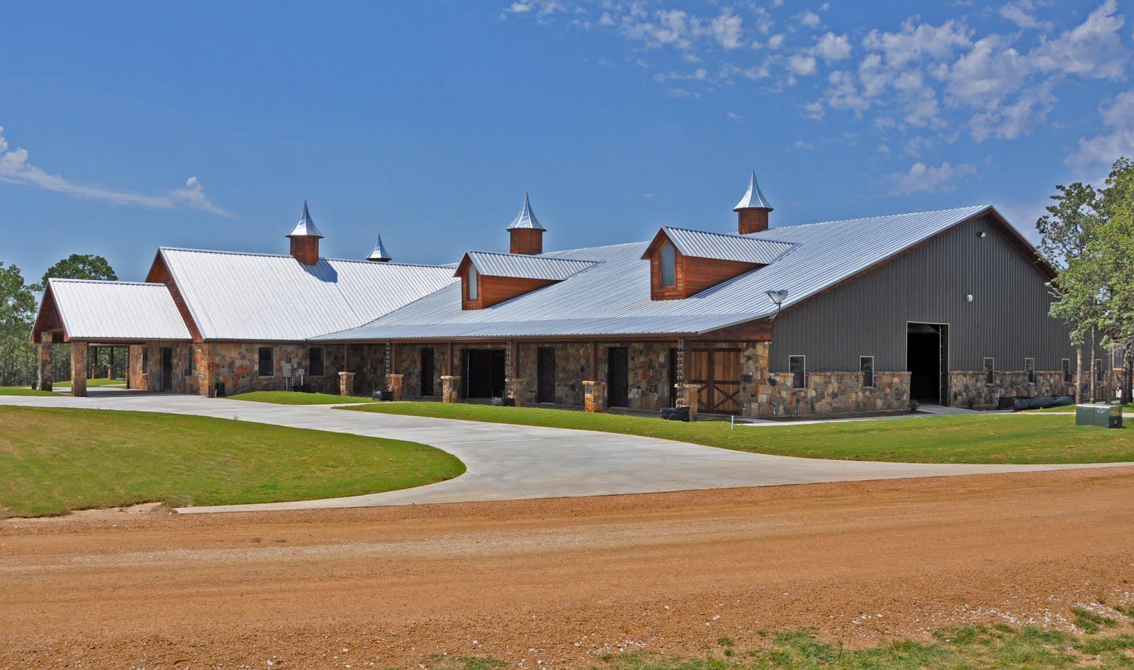 Clayton Boyd Industries Custom Horse Barn Covered Riding
