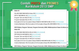 Contoh PROTA dan PROMES Kurikulum 2013 SMP