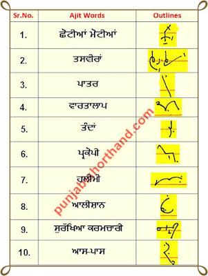 19-june-2020-punjabi-shorthand-outlines