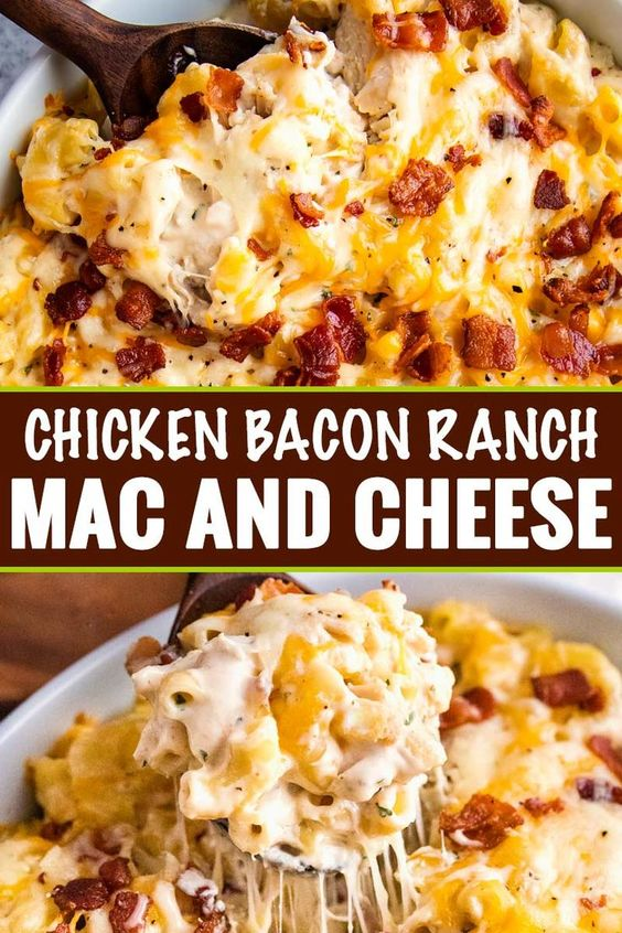 CHICKEN BACON RANCH MAC AND CHEESE CASSEROLE RECIPES