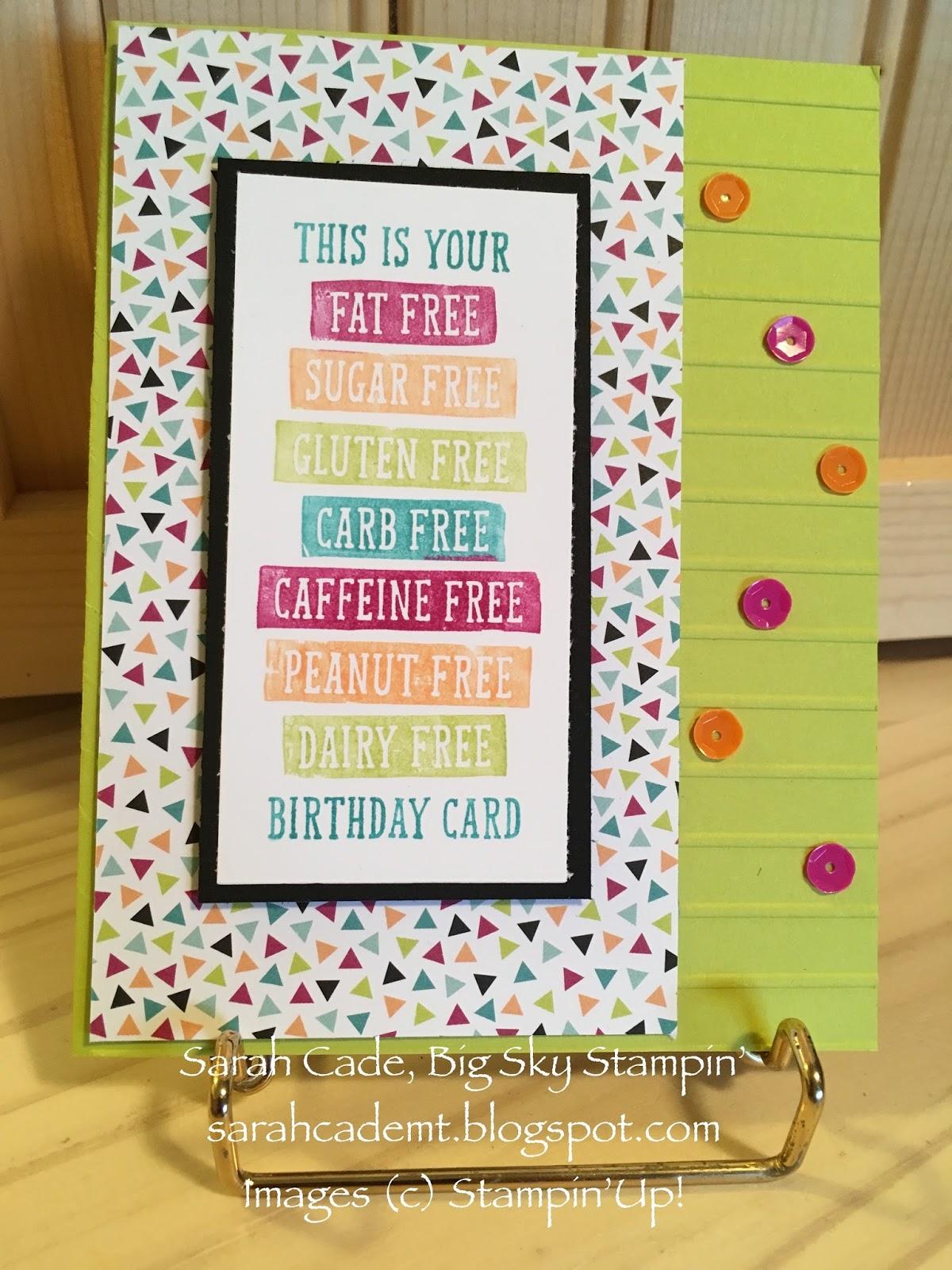 Big Sky Stampin Birthday Cards With Birthday Wit