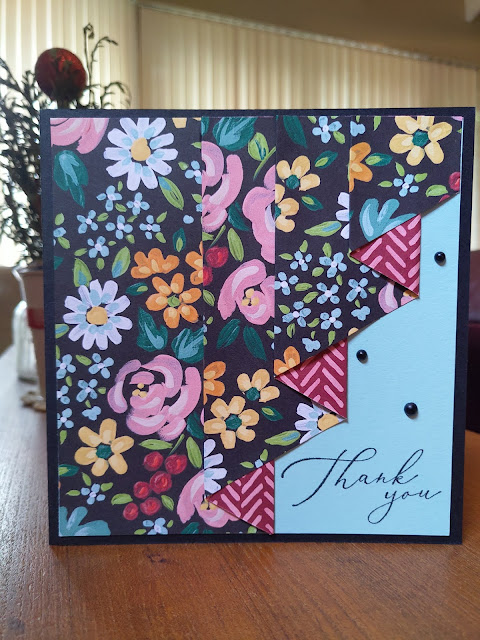 Drapery Fold Pool Party Stampin' Up Card