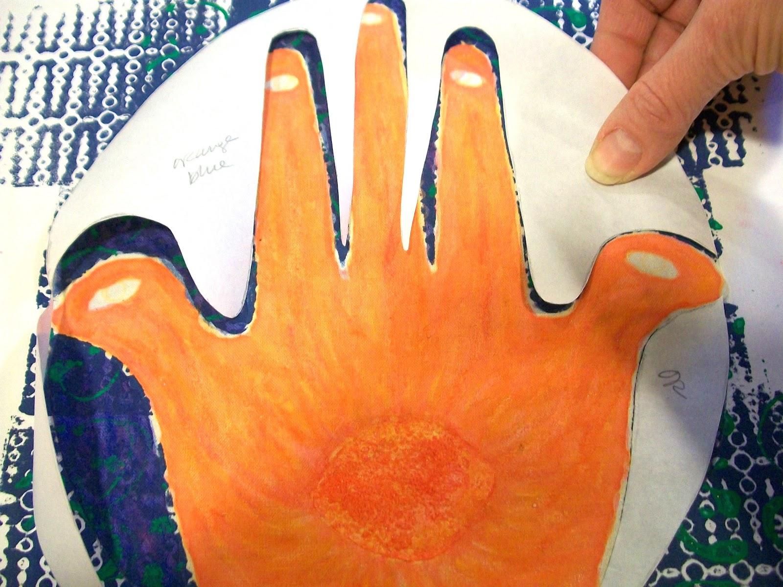 Hamsa Hand Art Project