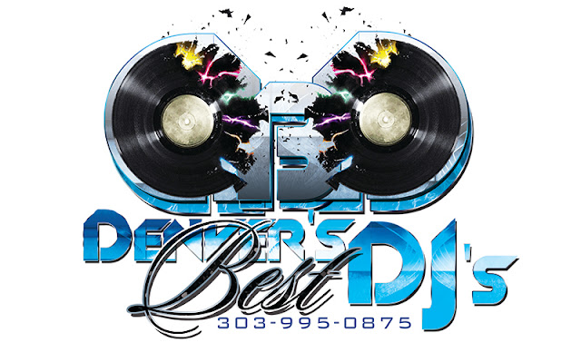 Denver's Best DJs Denver Wedding DJ and Event DJ Services Logo and Phone Number