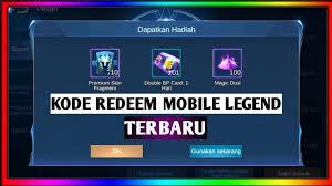 Trik Mendapatkan Kode Redeem Gratis Mobile Legends