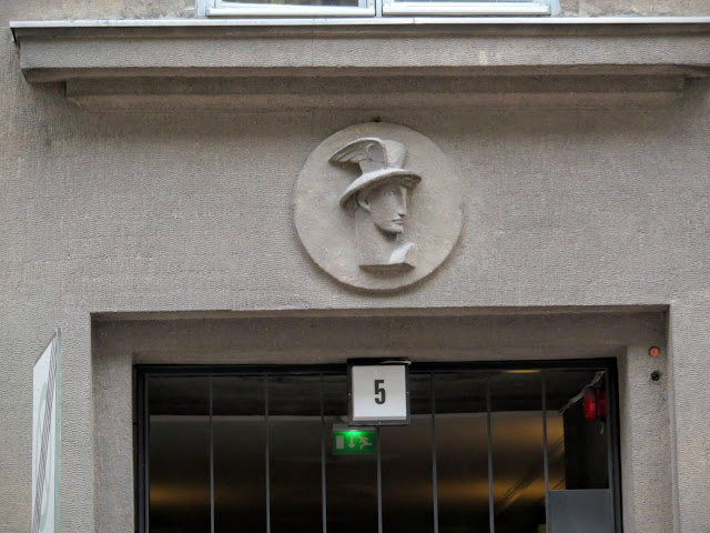 Cameo above the door in Helsinki, Finland