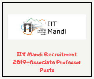 IIT Mandi Recruitment 2019-Associate Professor Posts