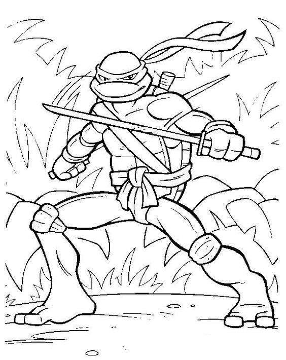Tranh tô màu Ninja rùa 1