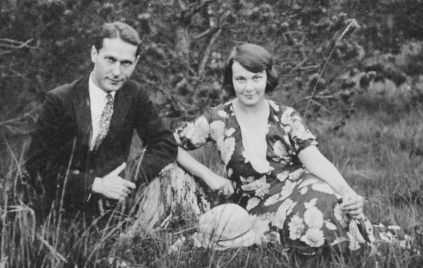 Олена Теліга з чоловіком Михайлом Телігою