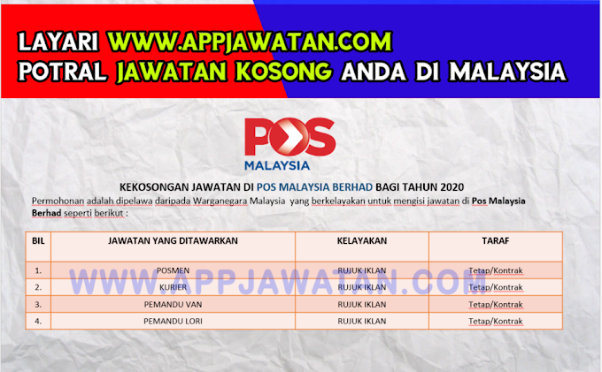 Temuduga Terbuka di Pos Malaysia Berhad.