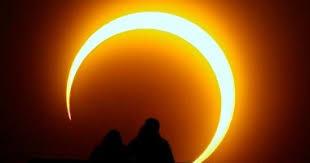 كسوف الشمس اية من ايات الله تعالى
