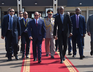 President Abdel Fattah al-Sisi left Kigali for Gabon after his official visit to Rwanda