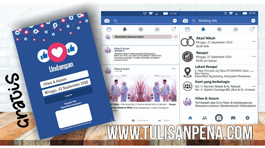 Template Undangan Facebook