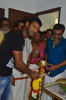 Kaththi Sandai Movie Starting Pooja