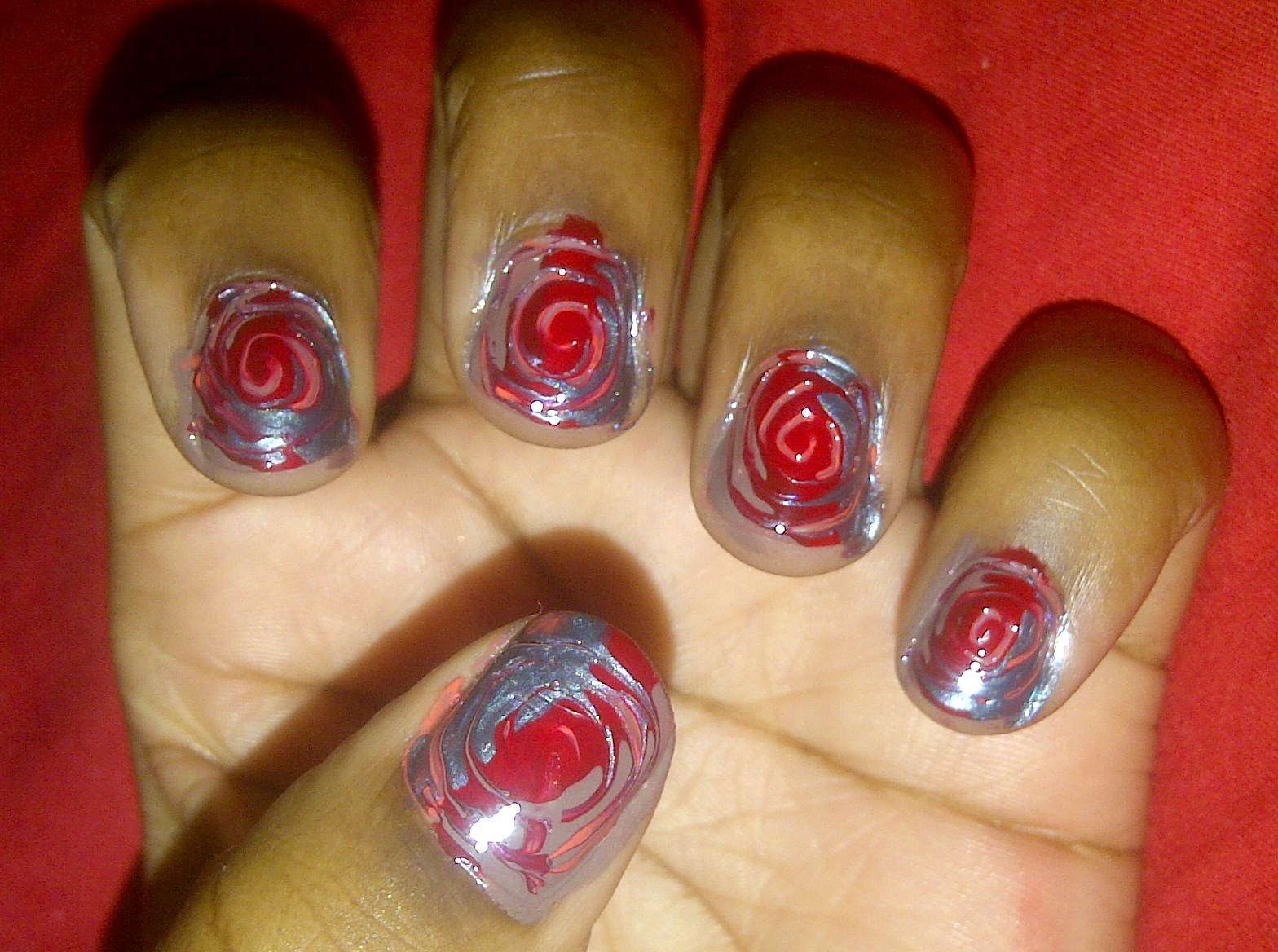 Nail Marbling Without Water