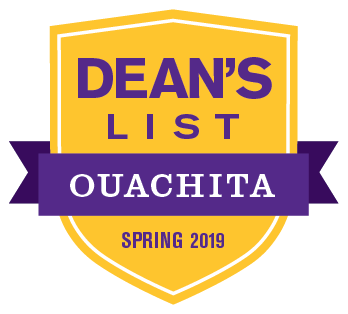 Students named to Ouachita Baptist University's Spring 2019 Dean's List