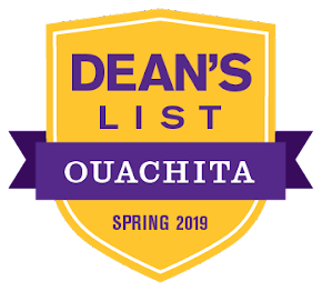 Nathan Frick and Elise Nelson of West Monroe named to Ouachita Baptist University's Spring 2019 Dean's List
