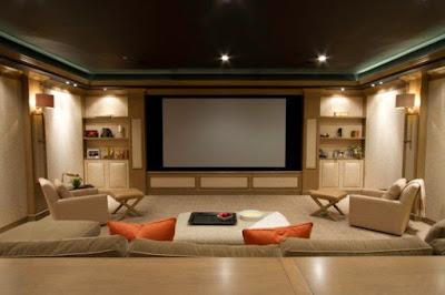 ห้องโฮมเธียเตอร์ดูหนังในบ้าน