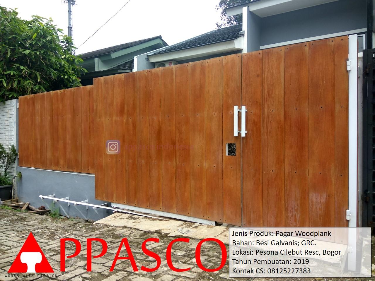 Pagar Woodplank GRC Galvanis di Pesona Cilebut Residence