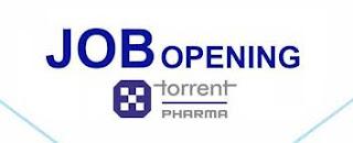B.Sc/M.Sc /BE/ B.Pharma/ M.Pharma Urgent opening at Torrent Pharmaceuticals Ltd, Pithampur, M.P.