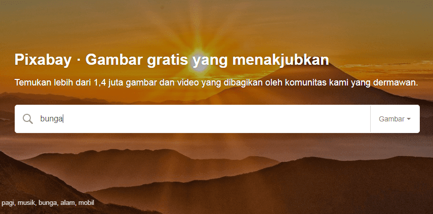 Cara Mendapatkan Gambar Gratis di Website Pixabay