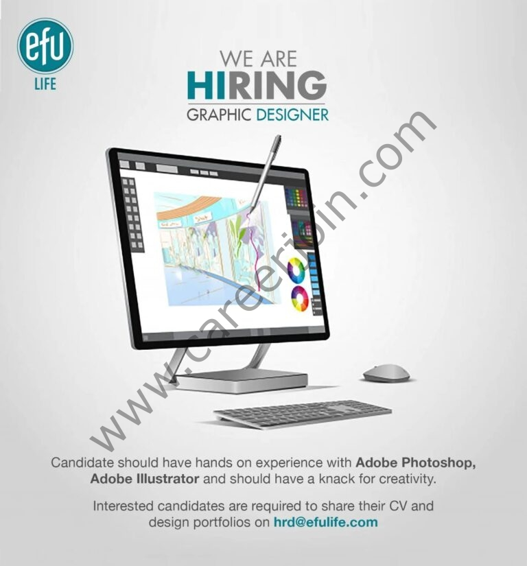 EFU Life Assurance Ltd Jobs Graphic Designer