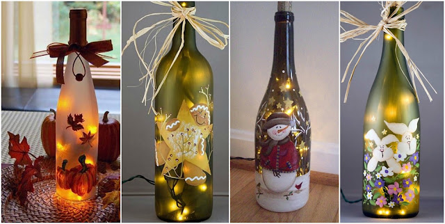Tutorial para reciclar y decorar botellas de vidrio con for Botellas de vidrio decoradas para navidad