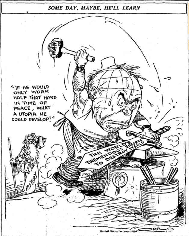 17 April 1941 worldwartwo.filminspector.com Chicago Daily Tribune cartoon