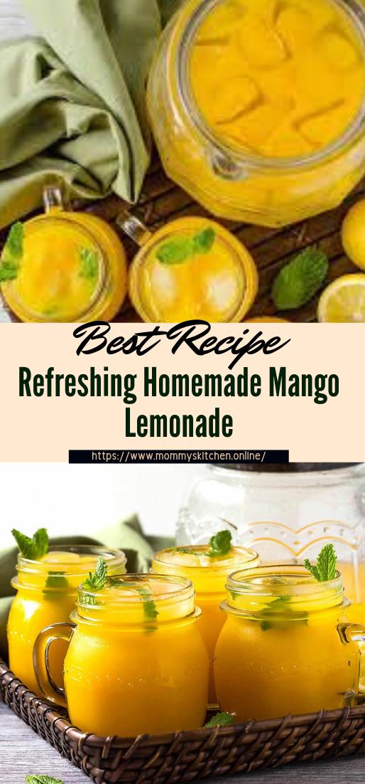 Refreshing Homemade Mango Lemonade #healthydrink #easyrecipe #cocktail #smoothie