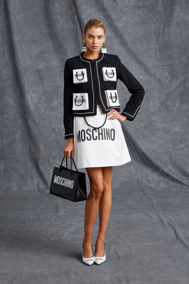 Resort 2016 Moschino Paper Bags Pockets Cardigan