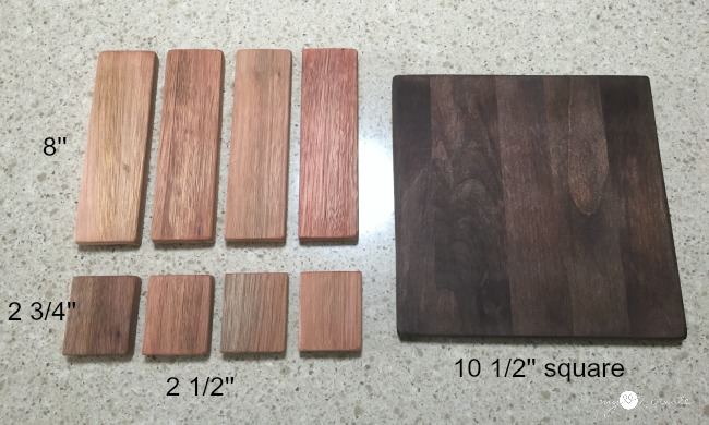 wood dimensions for scrap wood trivet