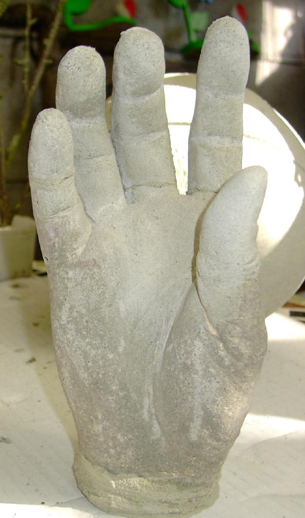 Gießform hand