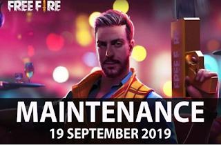 Maintenance Free Fire (FF) 19 September 2019 mulai 9:30 sampai 18:30 WIB