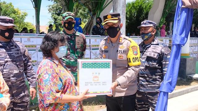 Kapolres Hadiri Kegiatan Bakti Sosial AKABRI 2001 Dalam Rangka Menyambut HUT TNI ke-76