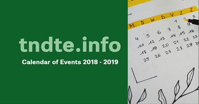 TNDTE Calendar Of Events 2018 - 2019